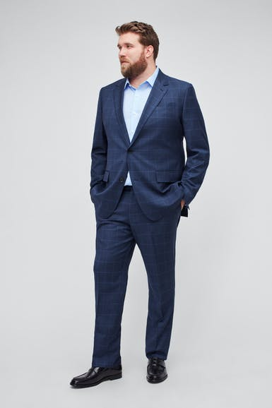 Jetsetter Stretch Wool Suit Extended Sizes