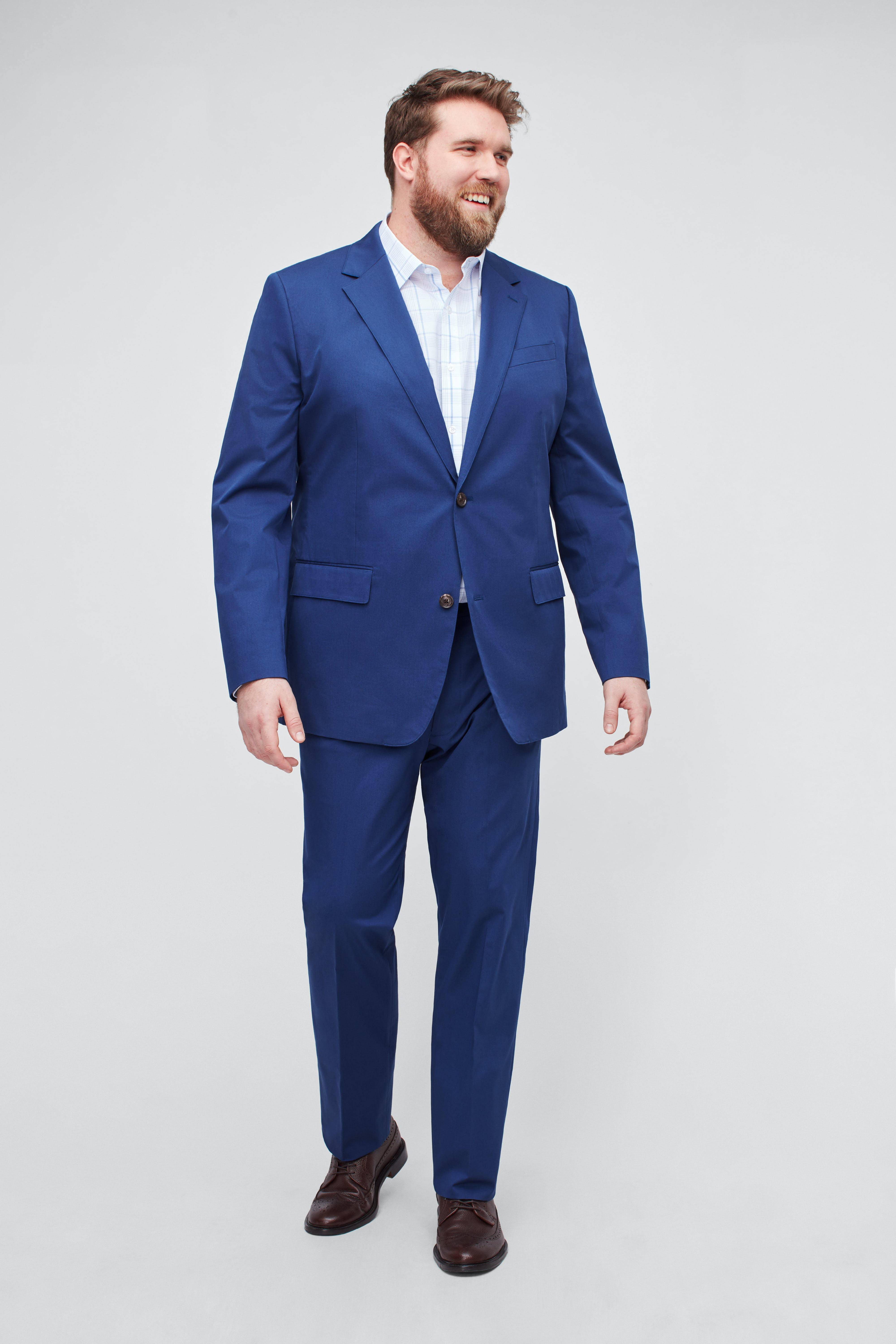 Italian Stretch Cotton Suit Extended Sizes