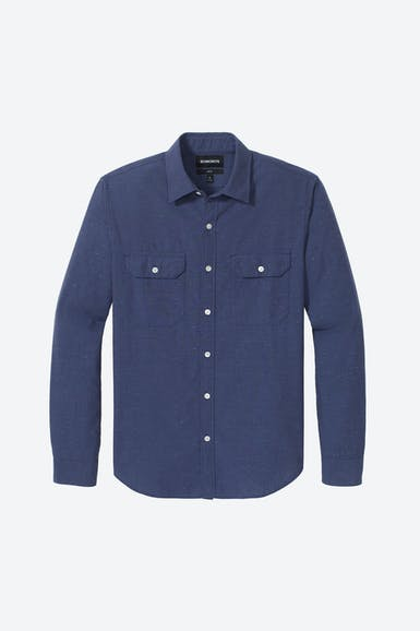 Textured Double Pocket Shirt