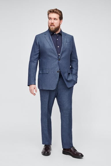 Italian Stretch Linen Suit Extended Sizes