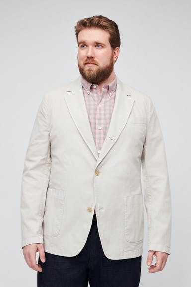Stretch Cotton Chore Blazer Extended Sizes