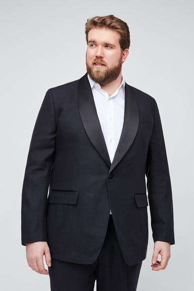 Capstone Italian Stretch Linen Tuxedo Jacket - Extended Sizes