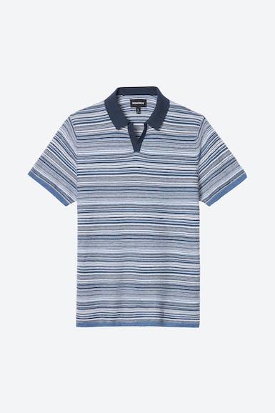Cotton Cashmere Johnny Collar Polo