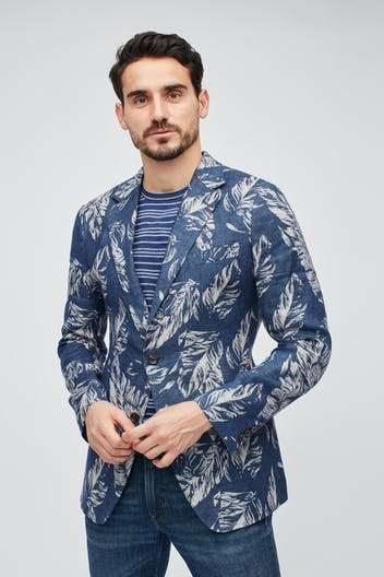 Unconstructed Floral Blazer