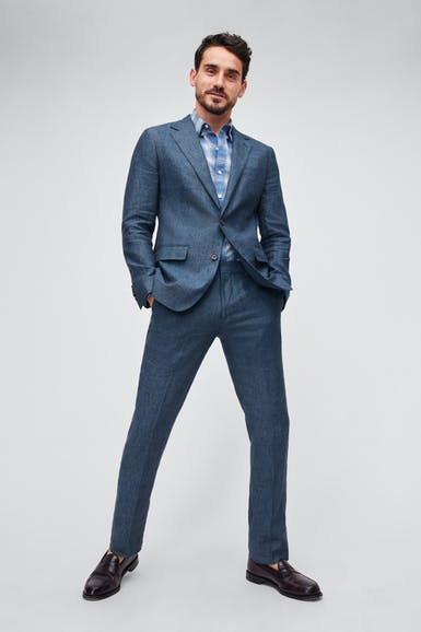 Italian Stretch Linen Suit