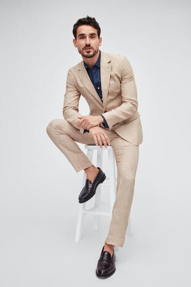 Italian Stretch Linen Suit Jacket