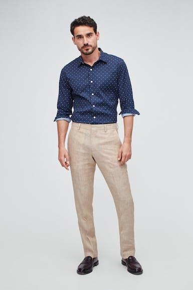 Italian Stretch Linen Suit Pant