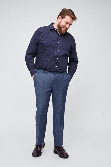 Italian Stretch Linen Suit Pant Extended Sizes