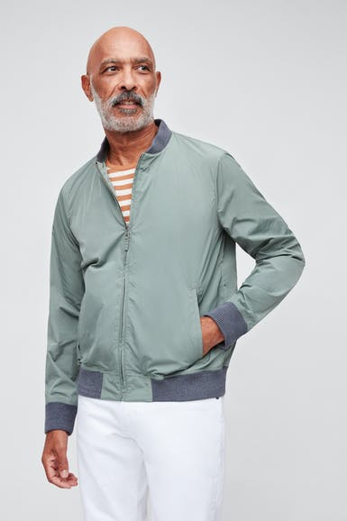 Lightweight Nylon Bomber Jacket