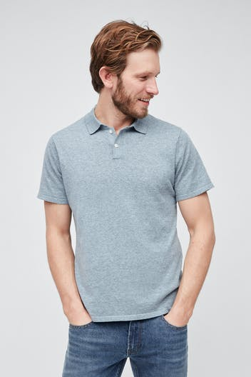 Cotton Linen Sweater Polo