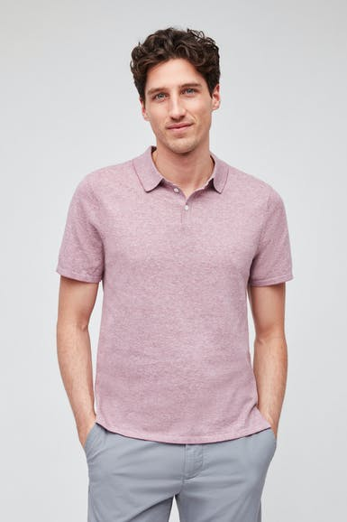 Cotton Linen Sweater Polo