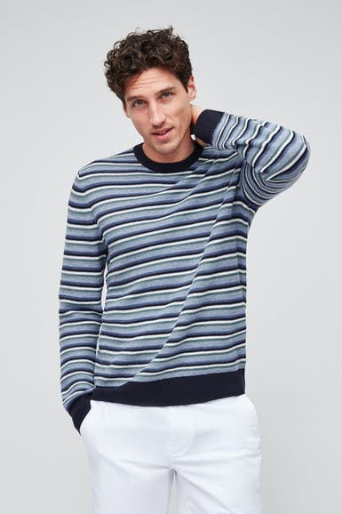 Cotton Linen Crew Neck Sweater