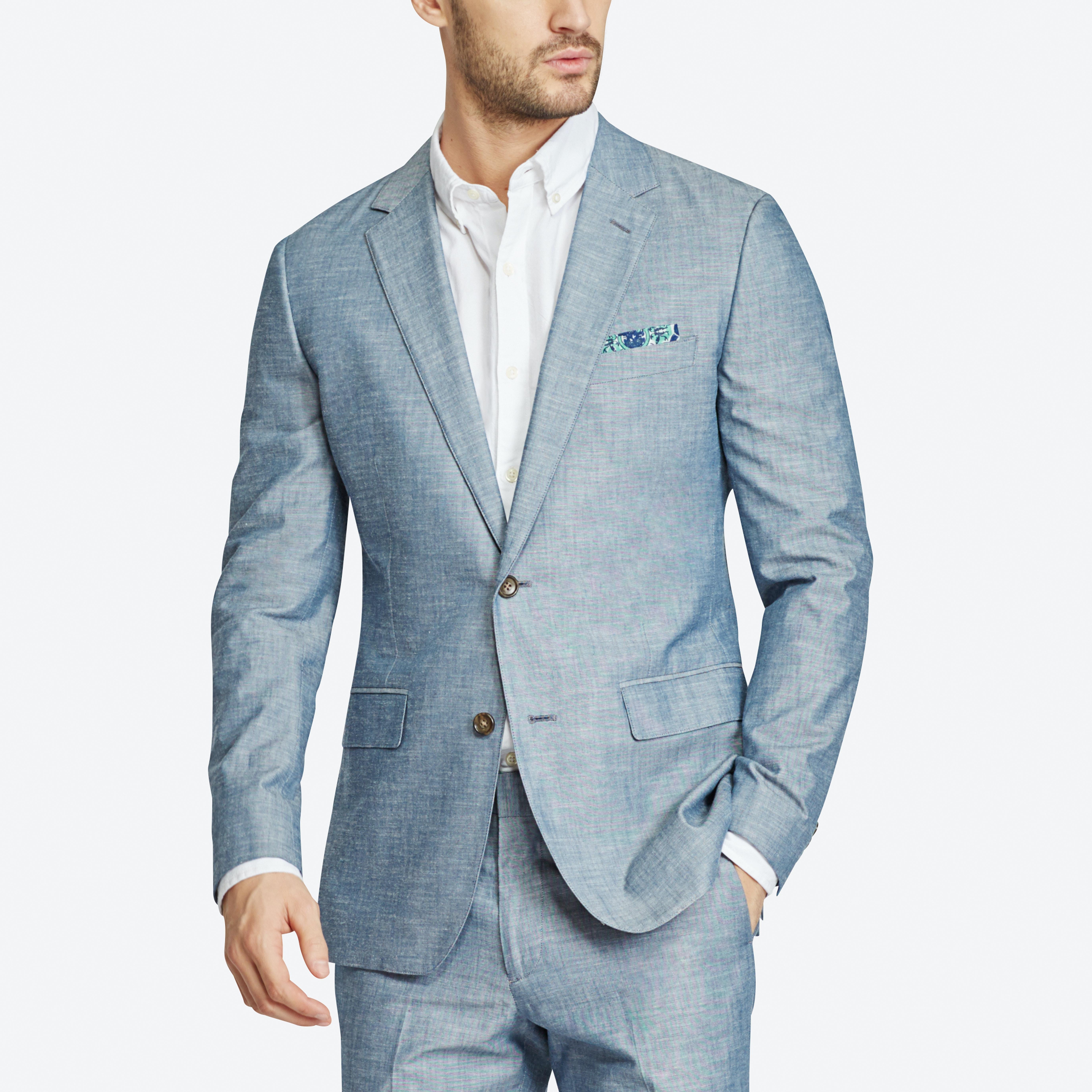Foundation Chambray Suit Jacket thumbnail