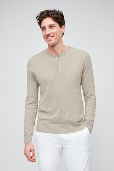 Cotton Linen Henley