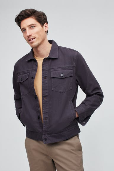 Garment Dyed Denim Jacket