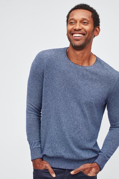 Lightweight Cotton Crew Neck Sweater