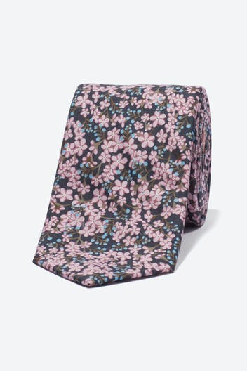 Cotton Necktie Made with Liberty Fabric