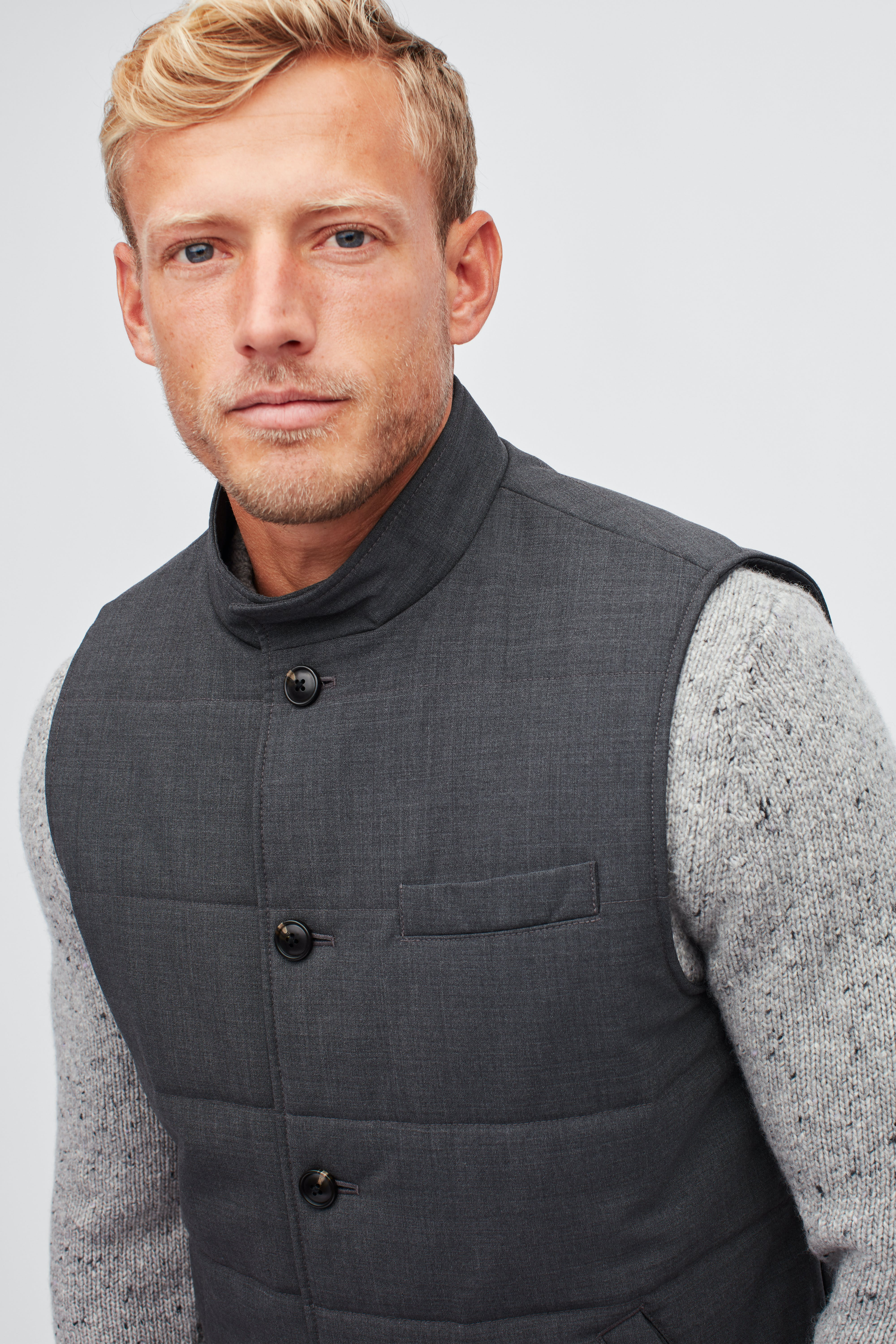 The Quilted Stretch Wool Vest