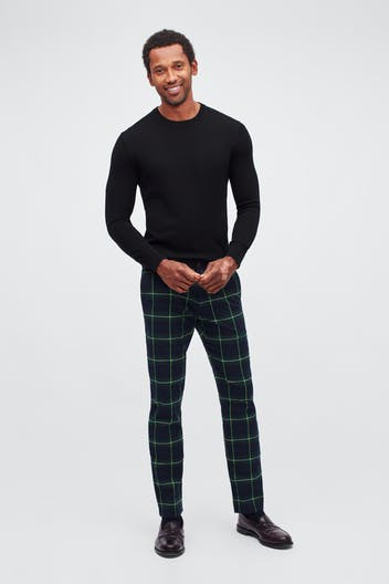 Holiday Tartan Stretch Chinos
