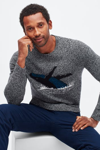 Whale Crew Neck Sweater