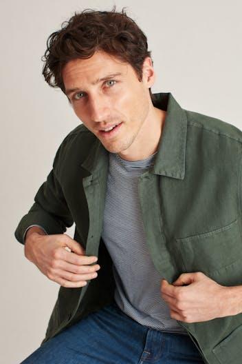 The Garment Dyed Shirt Jacket