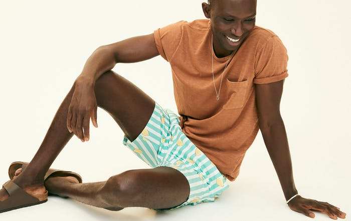 Editorial photo for Riviera Recycled Swim Trunks category