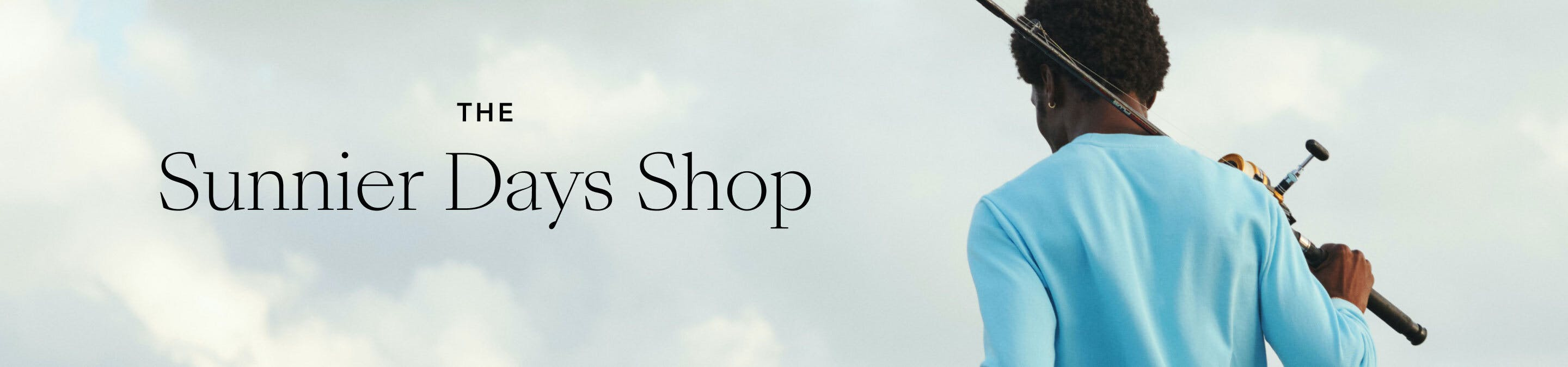 Header showing products for the The Sunnier Days Shop category