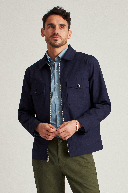 The Stretch Cotton Utility Jacket