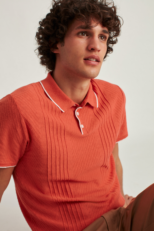Short Sleeve Sweater Polo