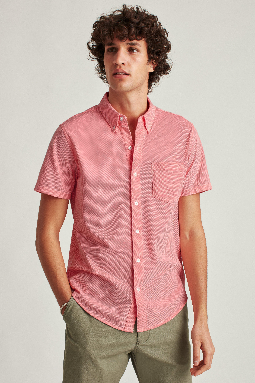 Knit Oxford Short Sleeve Shirt