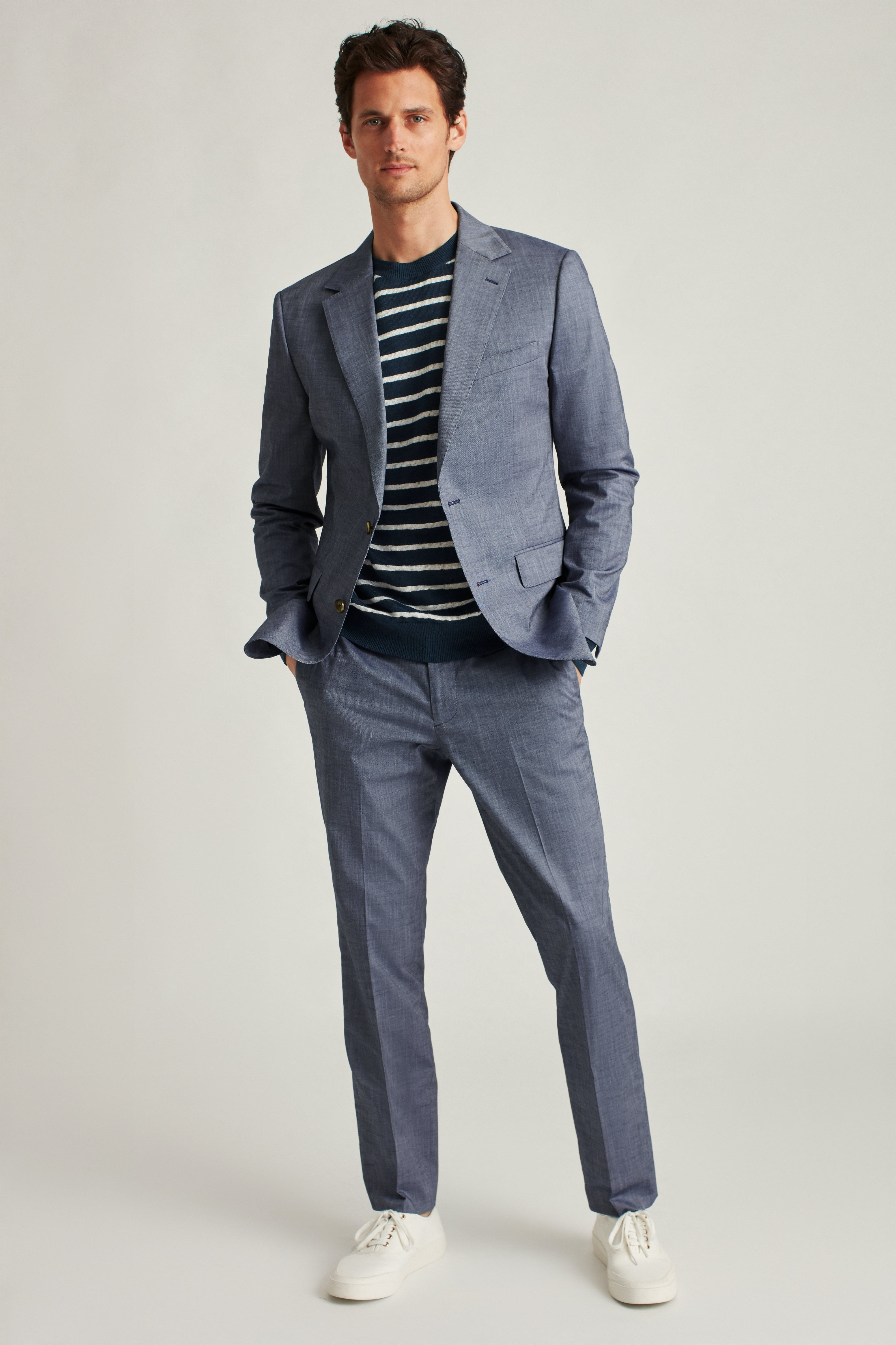 Stretch Chambray Suit