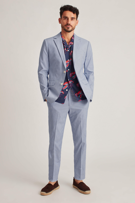 Italian Stretch Seersucker Suit