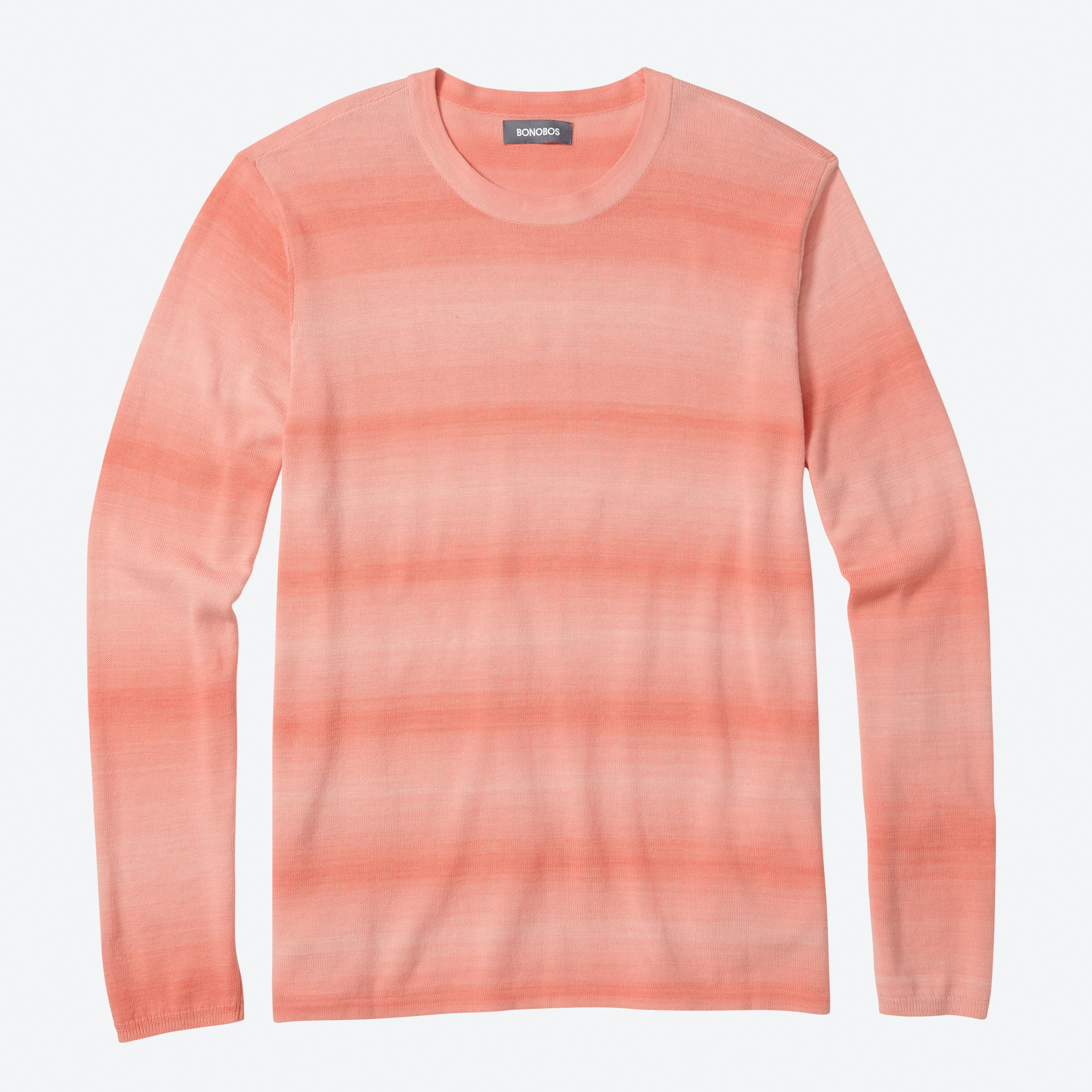 Ombre Cotton Crew Neck Sweater