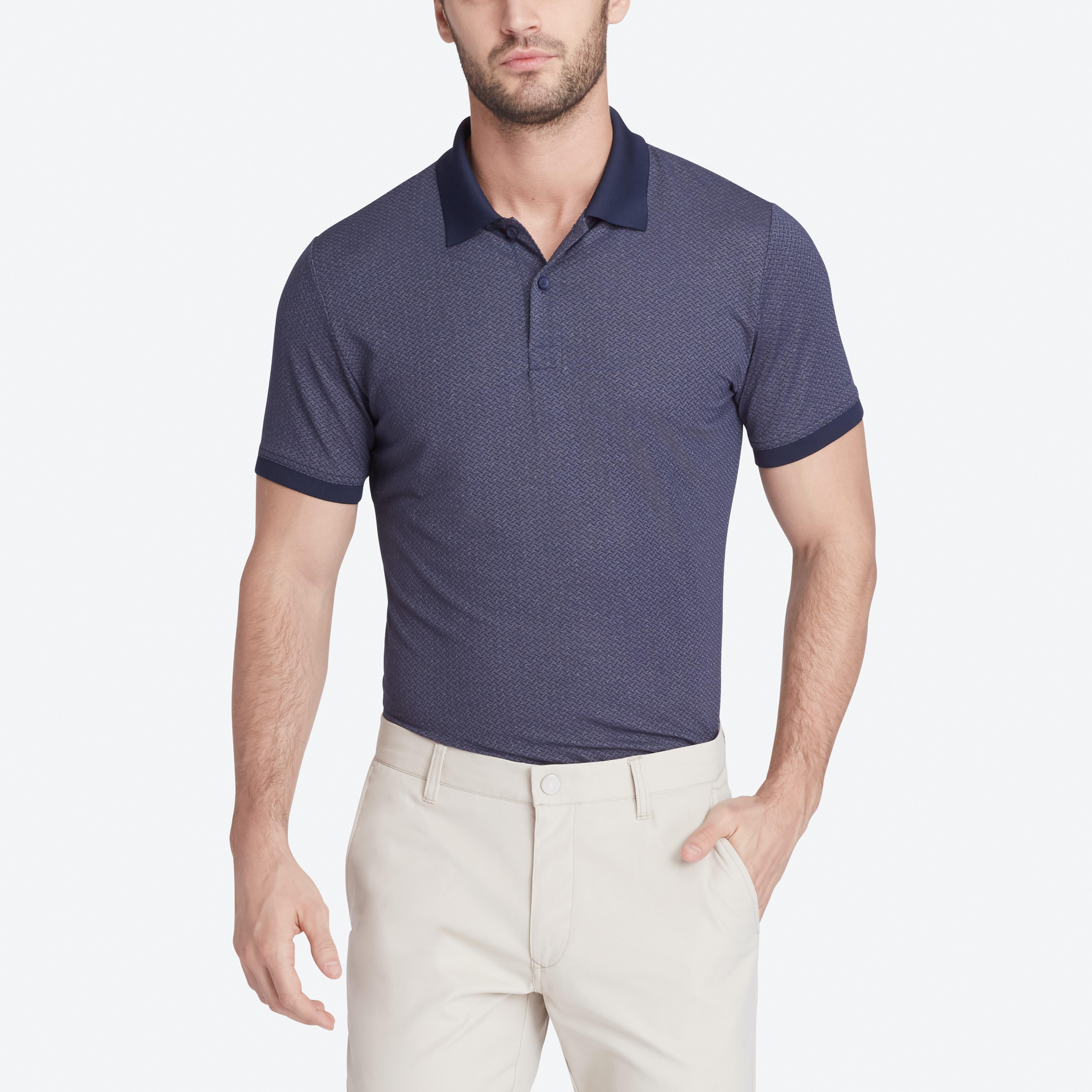 the flatiron polo golf shirt navy geo bonobos