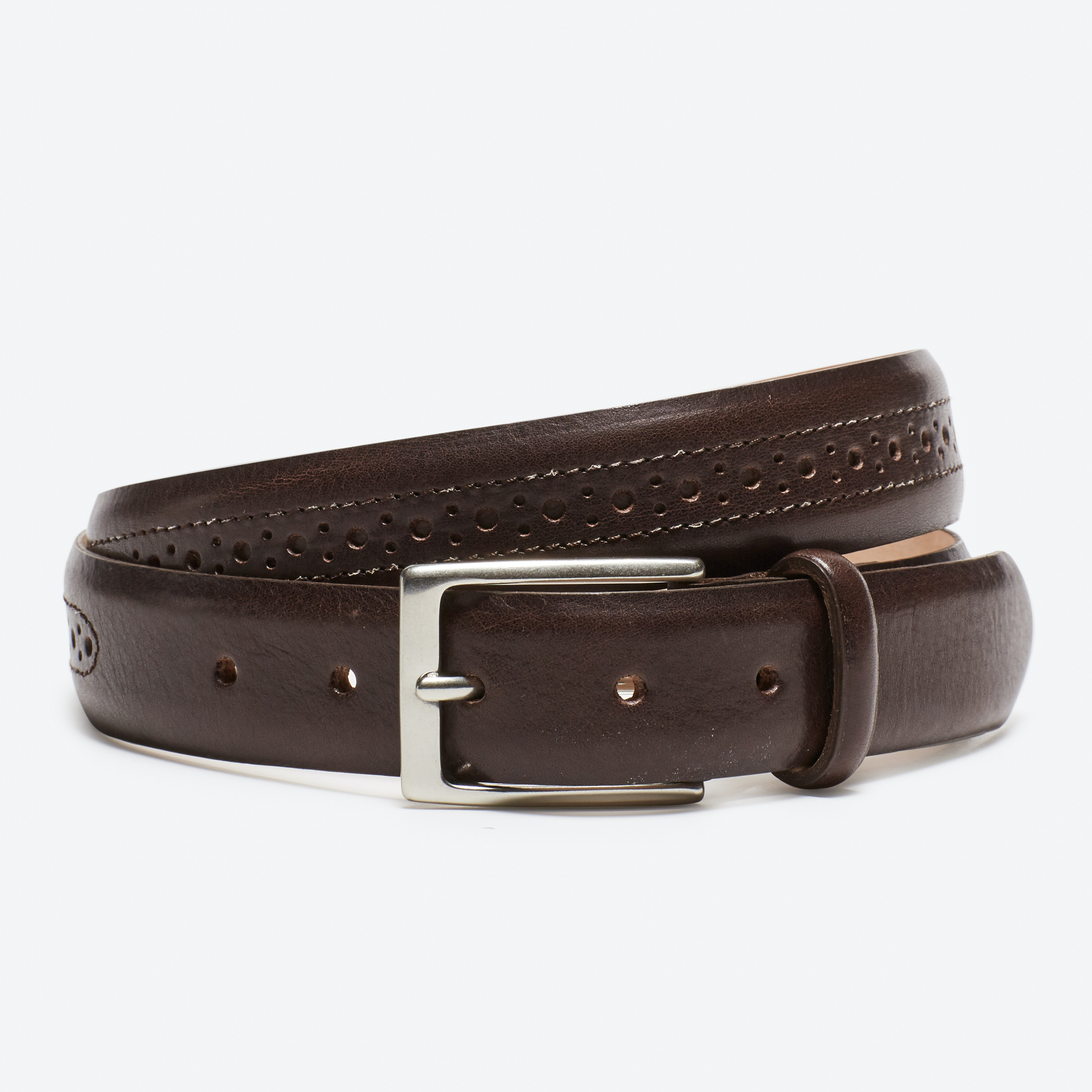 Leather Brogue Belt