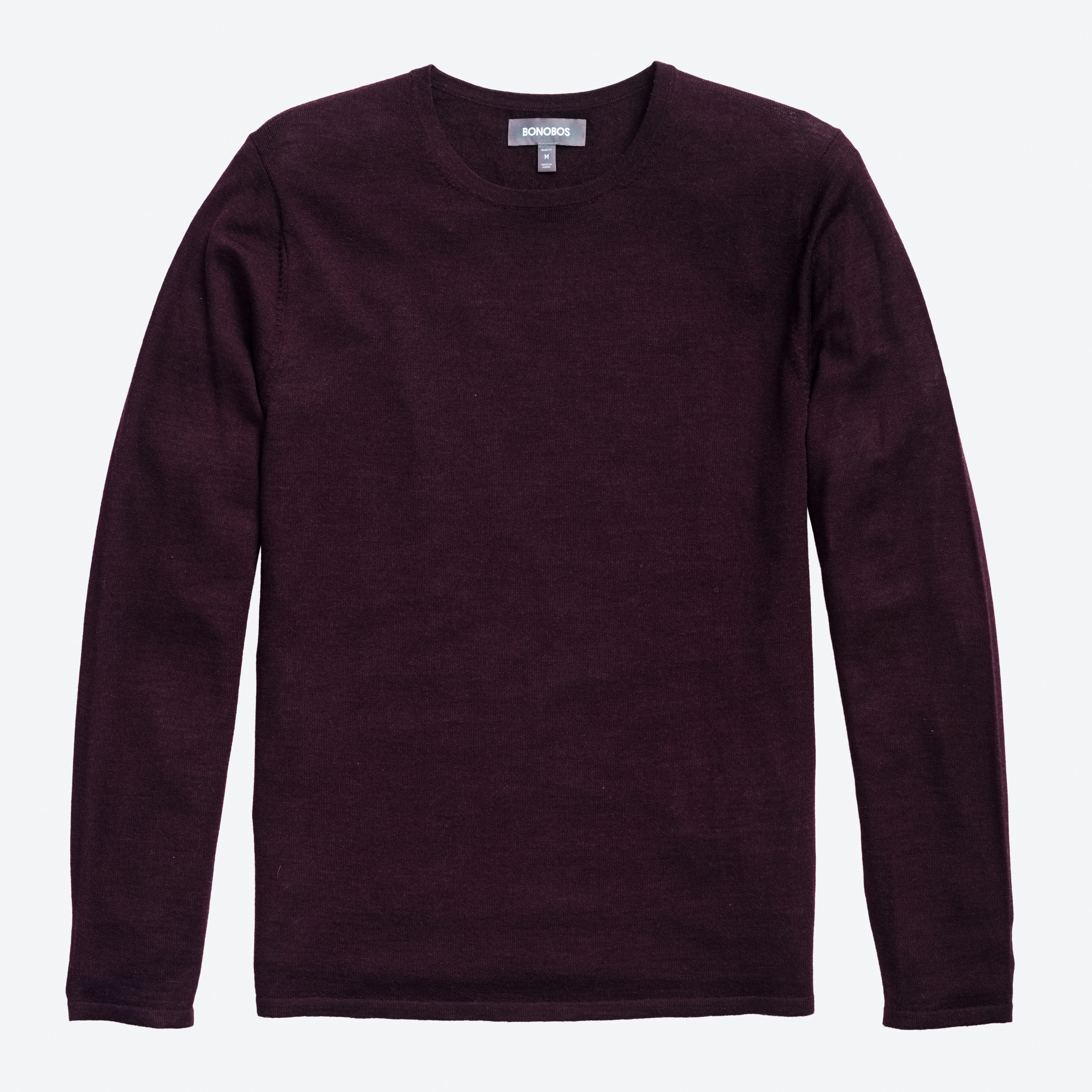 Superfine Merino Silk Crew Neck Sweater