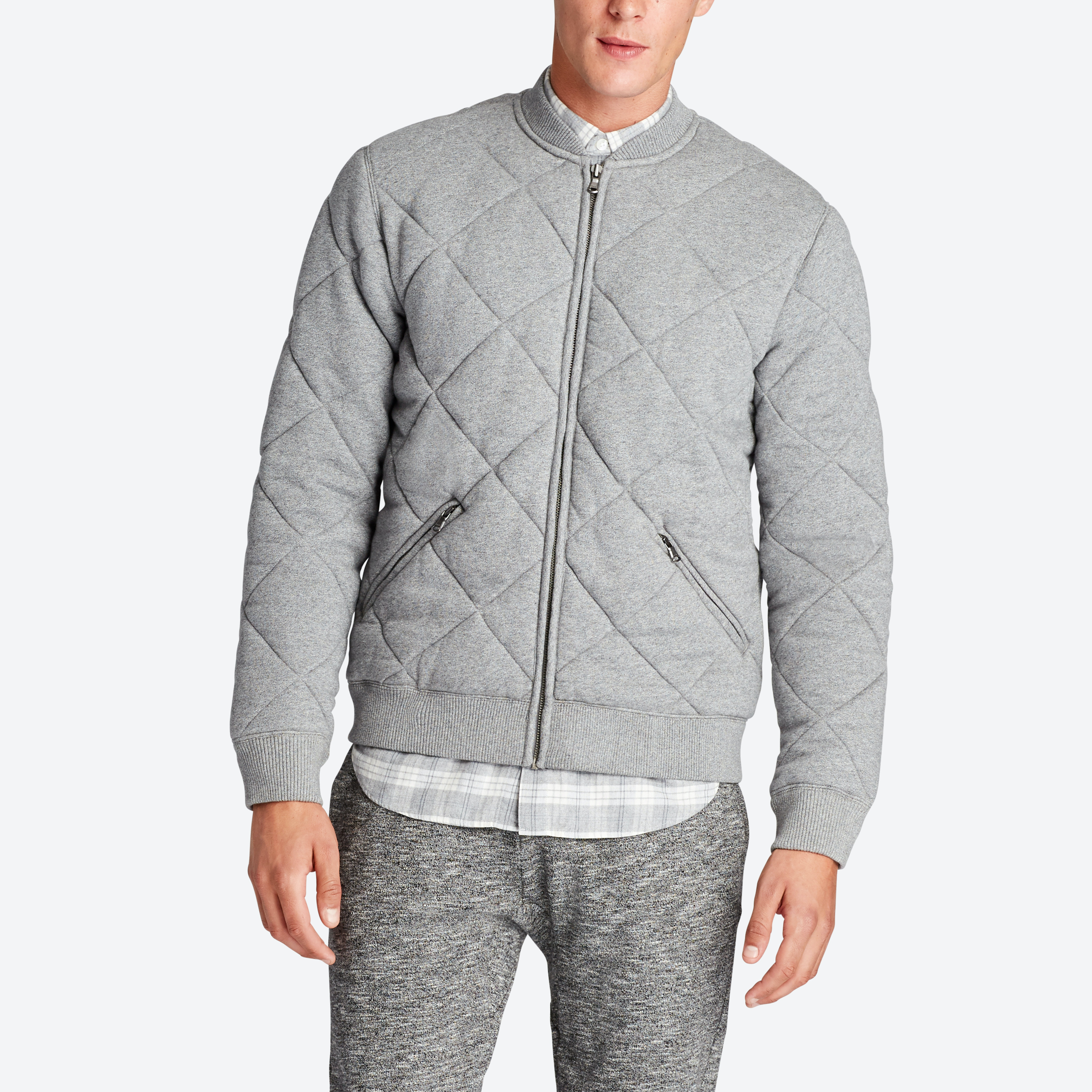 The Quilted Terry Bomber Jacket