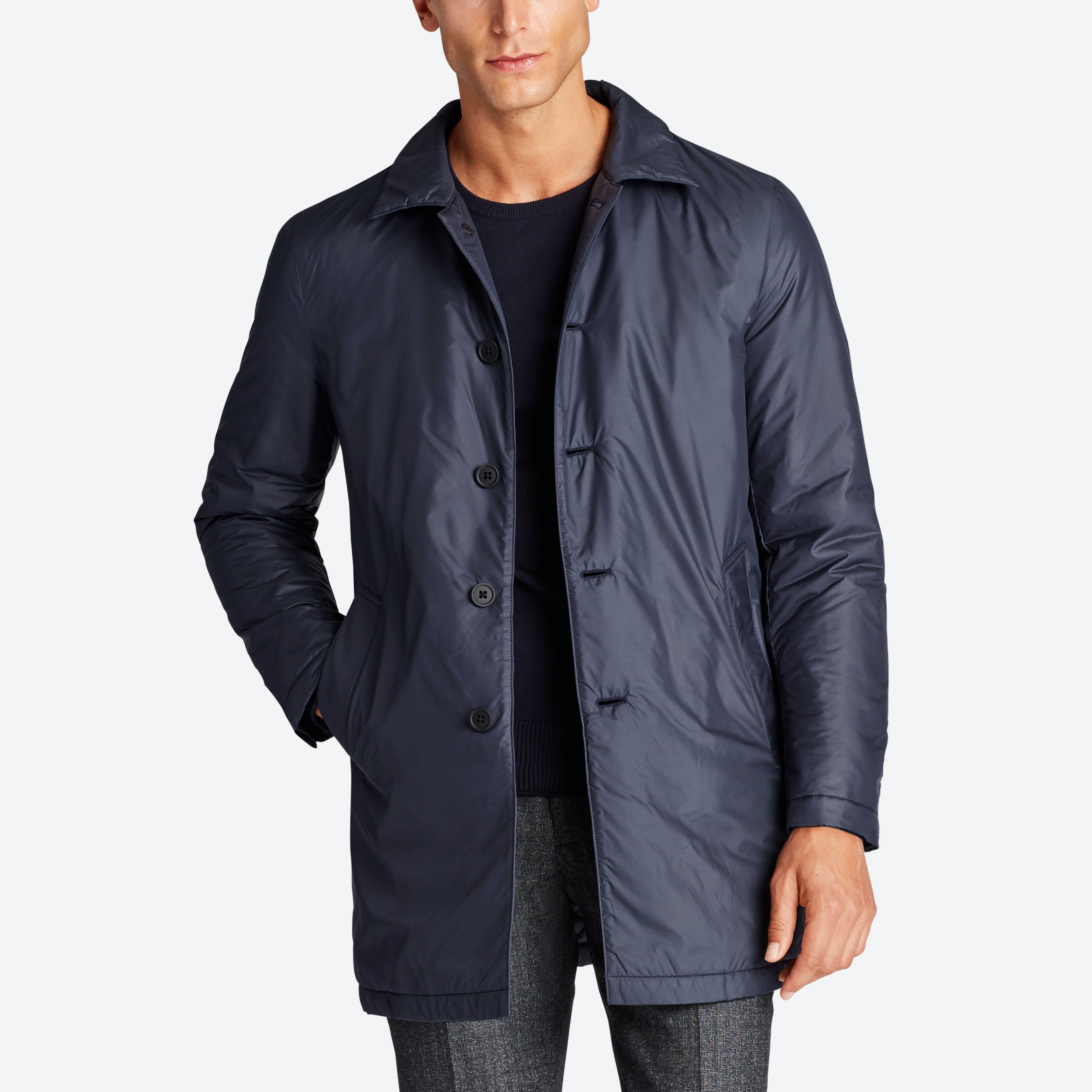 The Quilted Car Coat