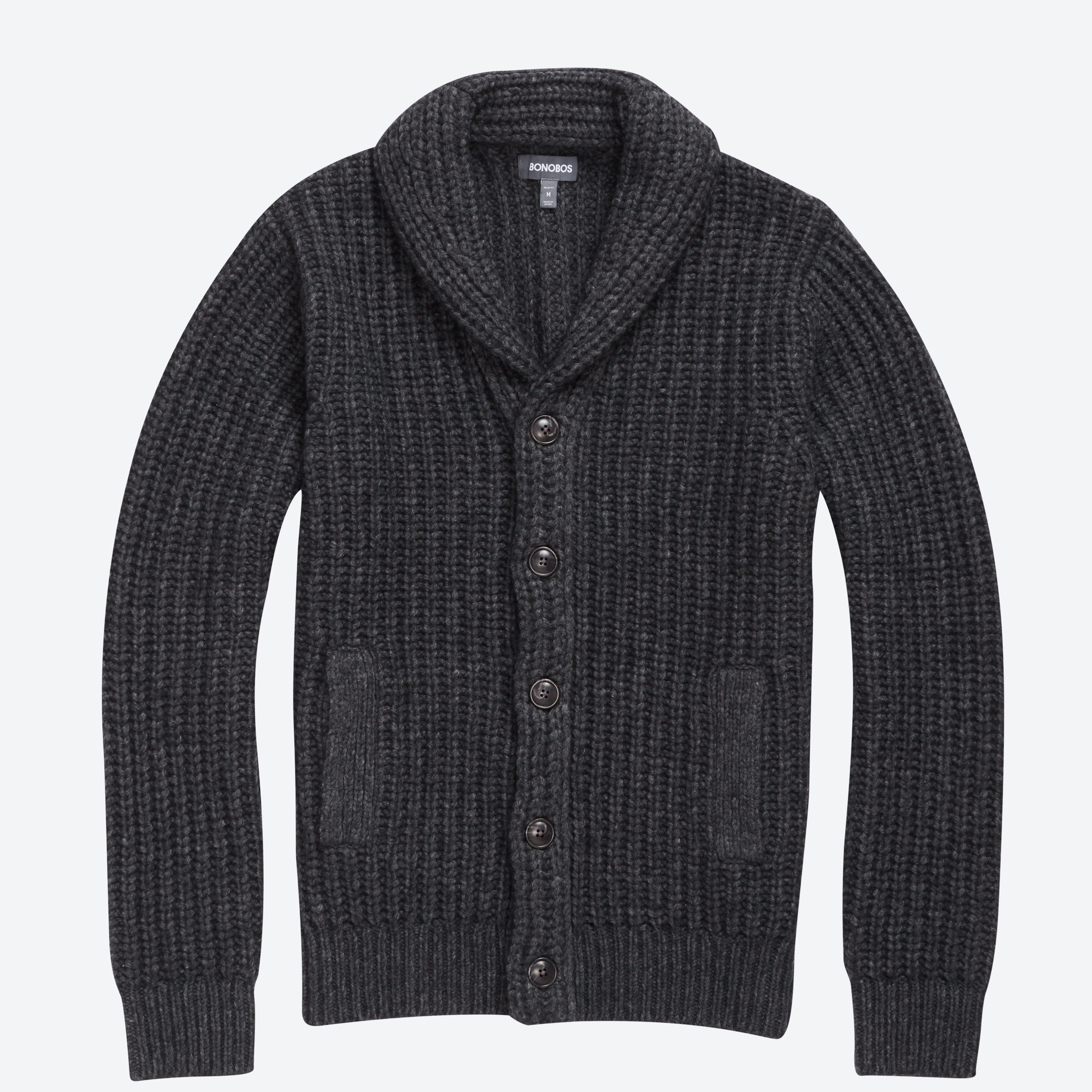 Italian Wool Shawl Collar Sweater