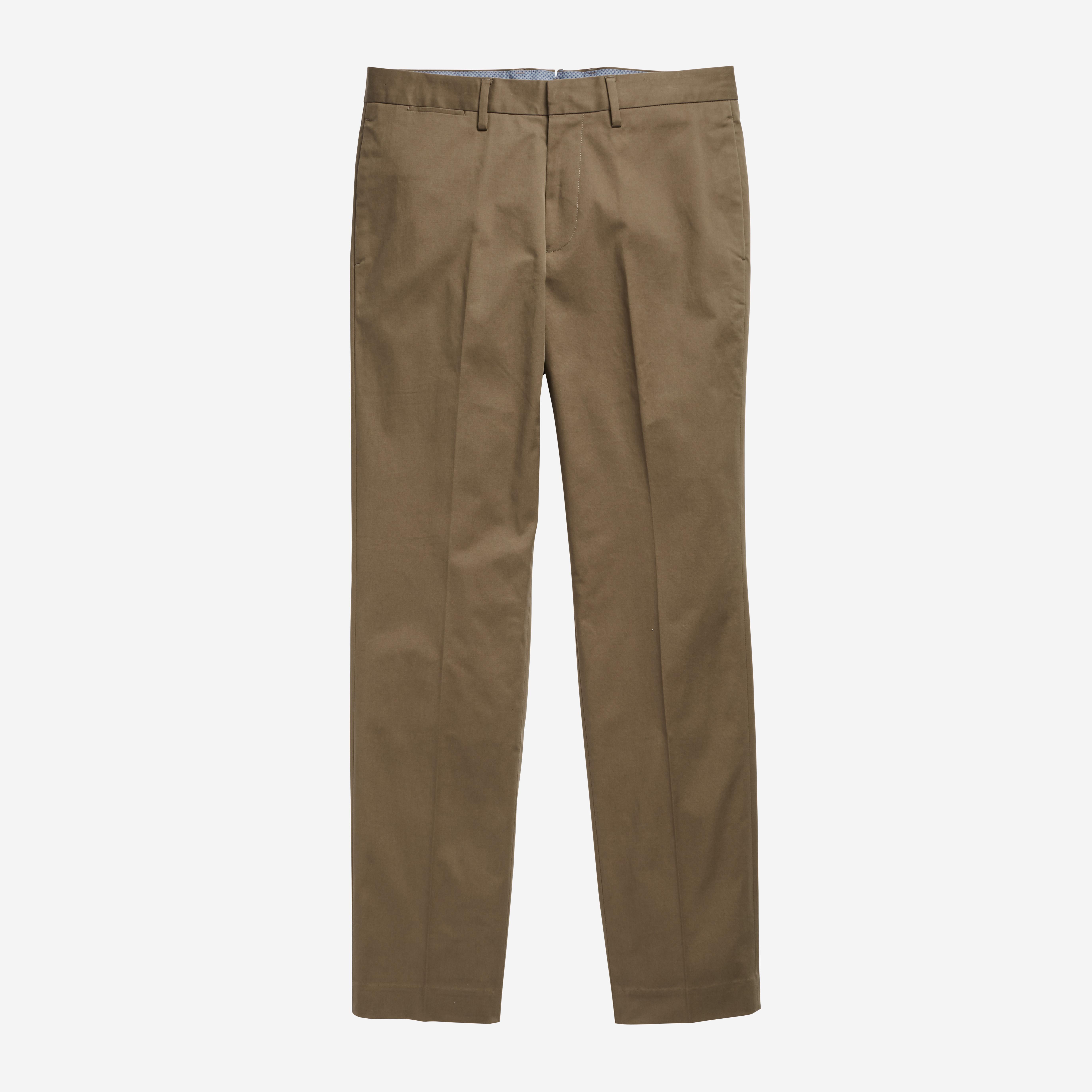 38 Waist 30 L George Mens Microfiber Performance Flat Front Dress Pants Black