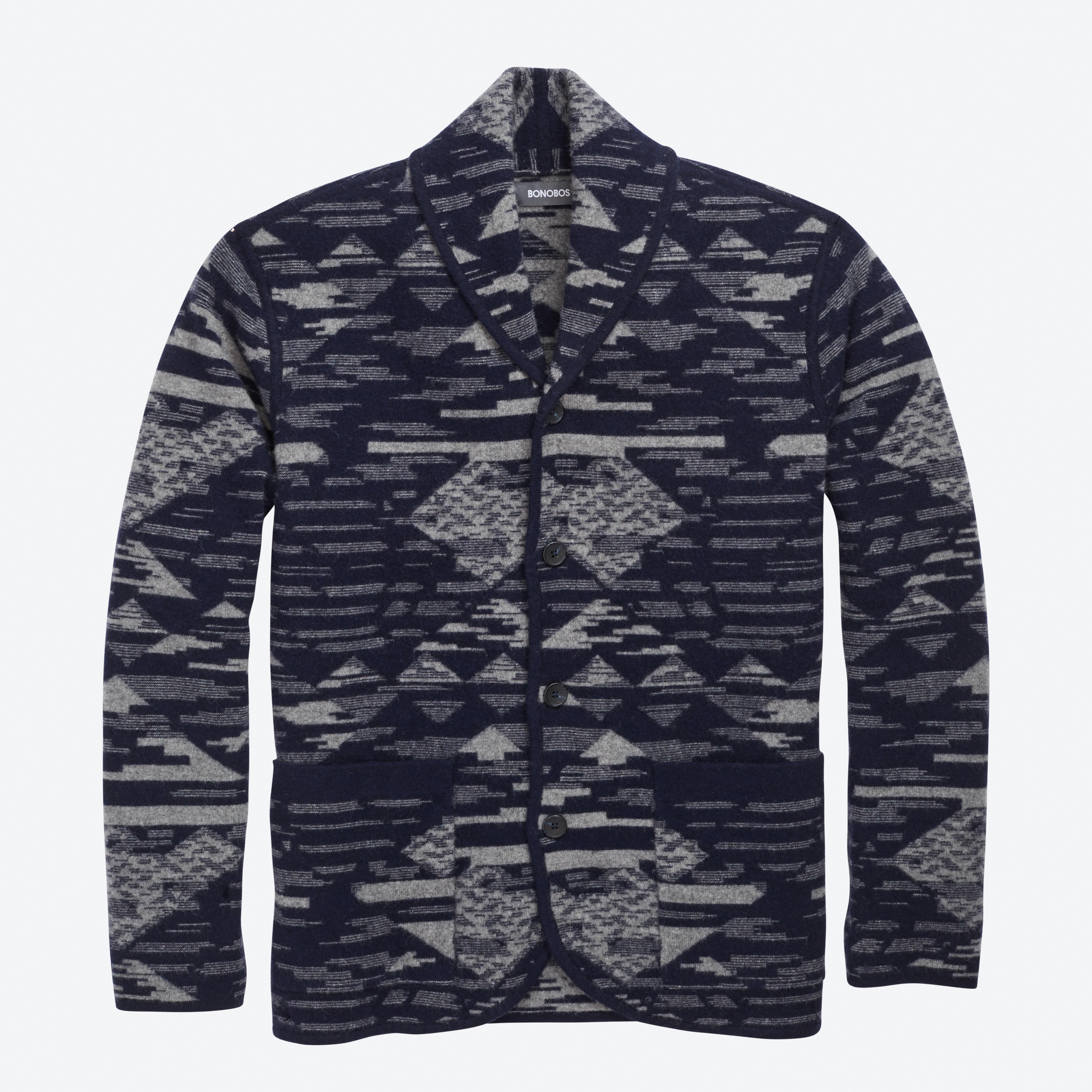 Felted Wool Shawl Sweater Cardigan