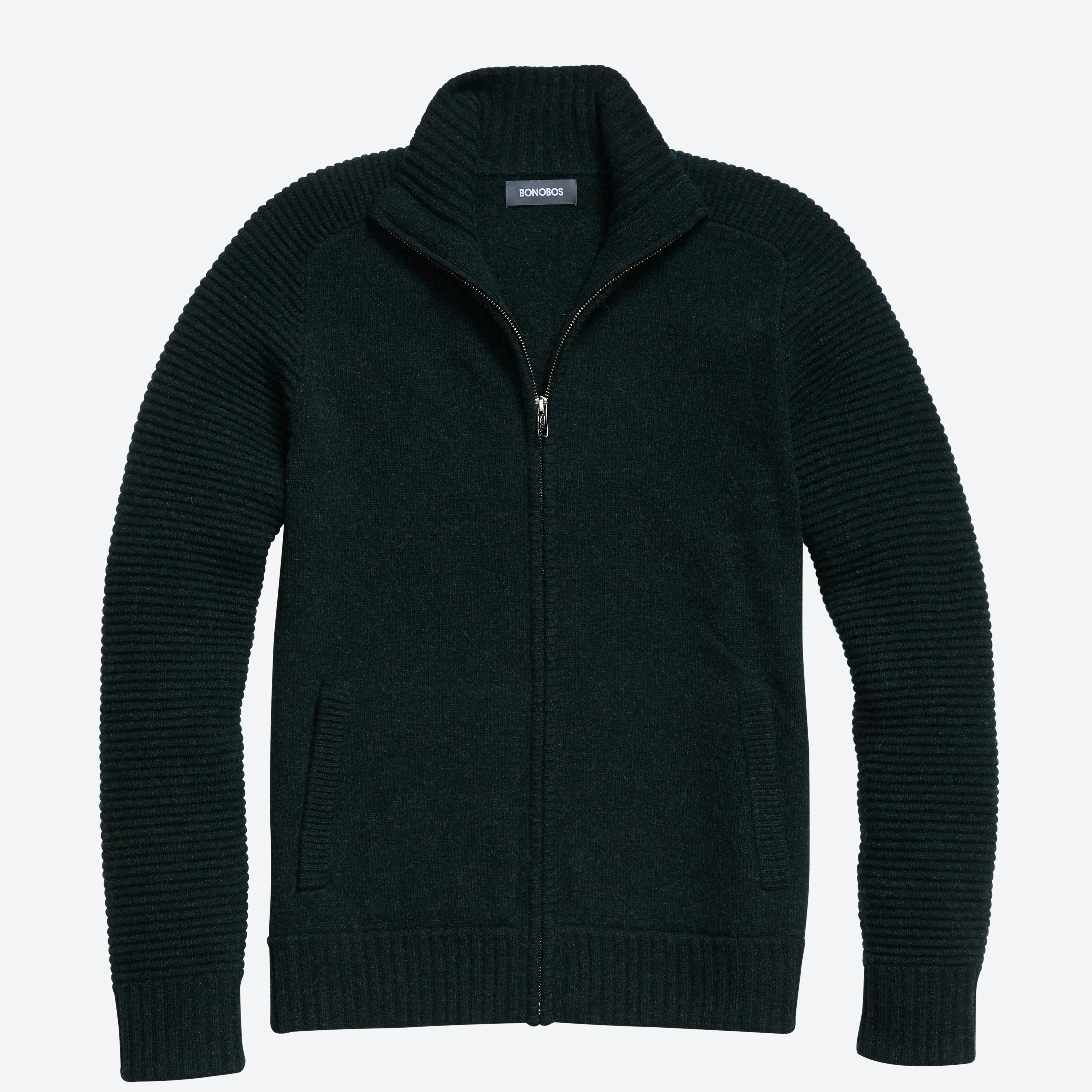 Lightweight Wool Full-Zip Sweater
