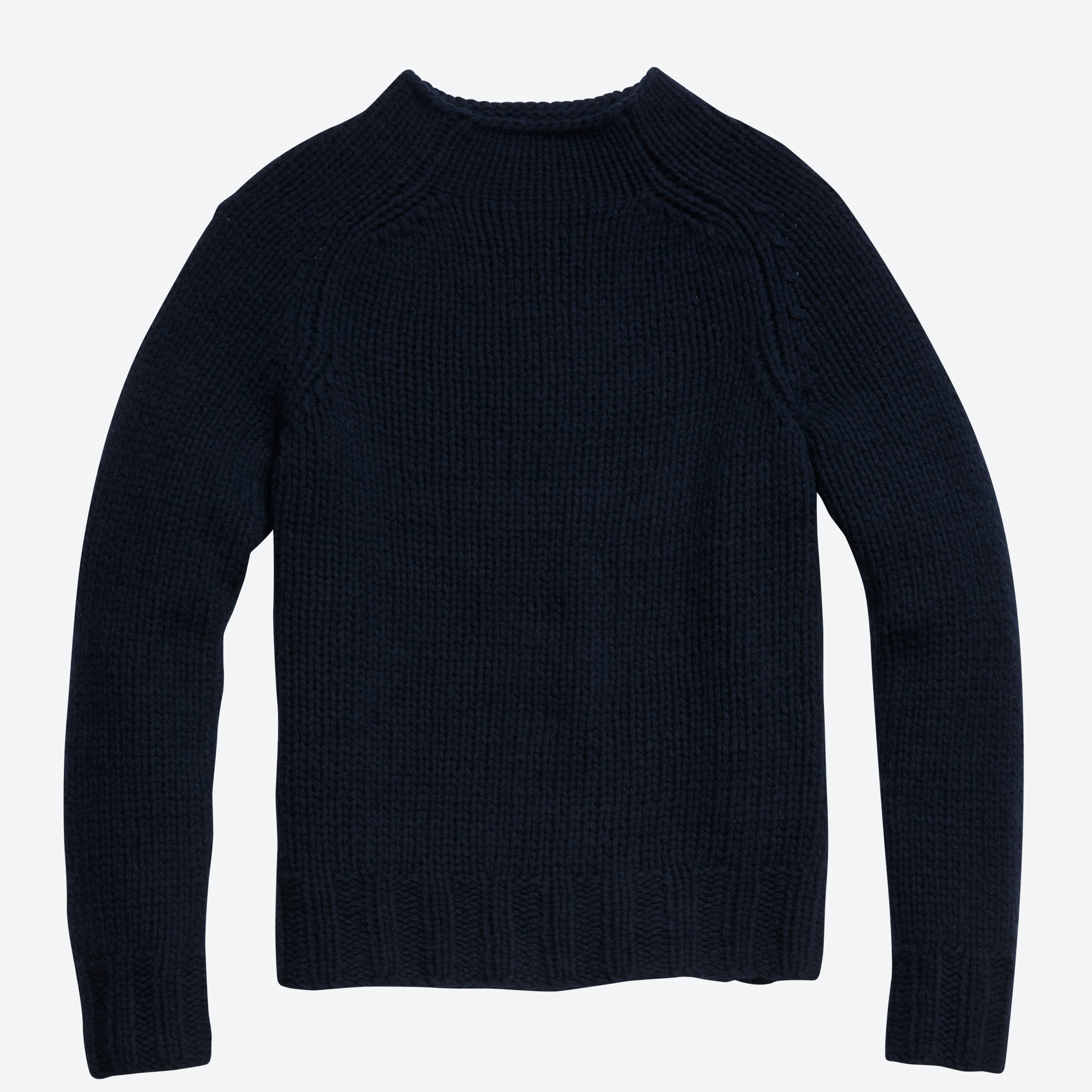Handknit Mock Neck Sweater