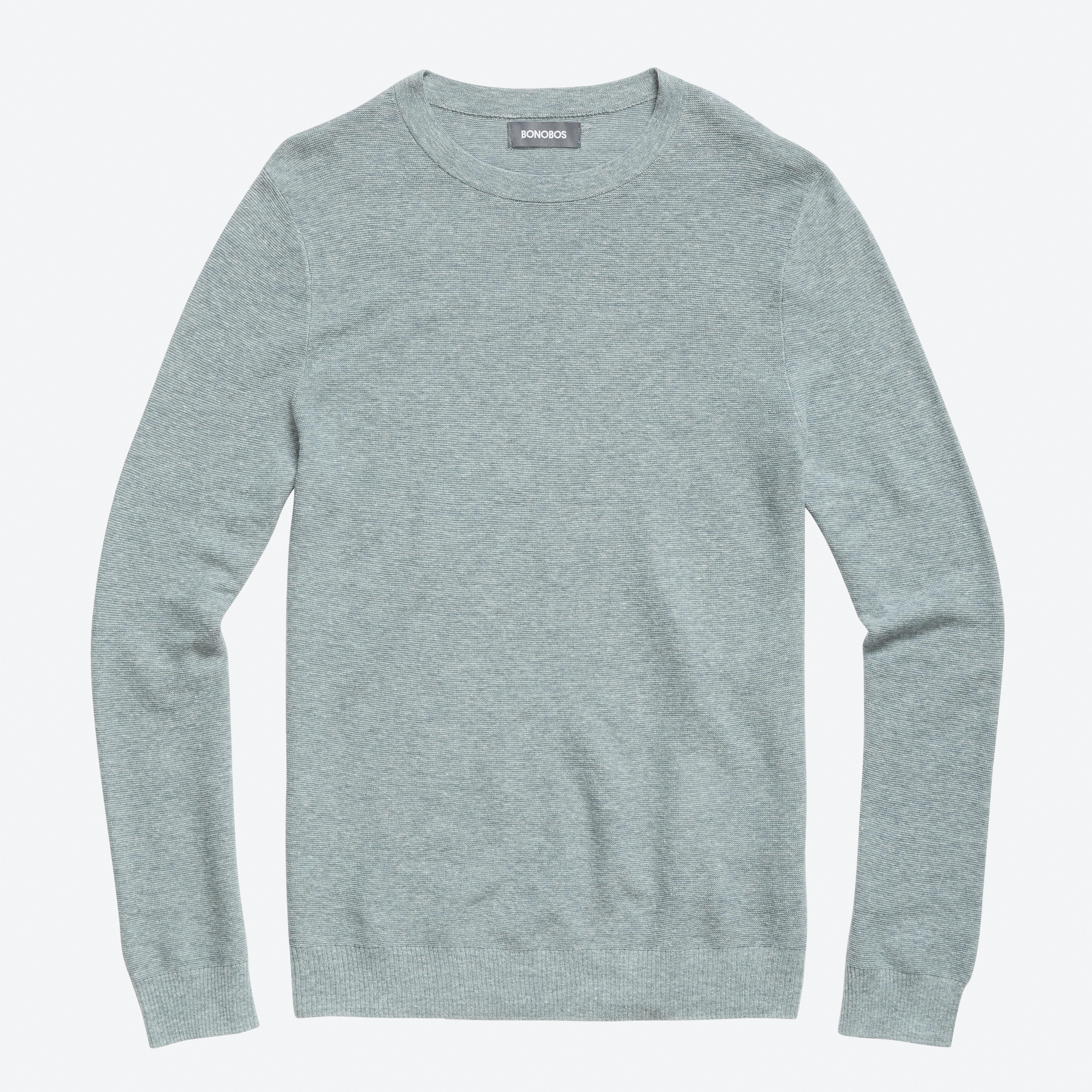 Cotton Linen Crew Neck Sweater