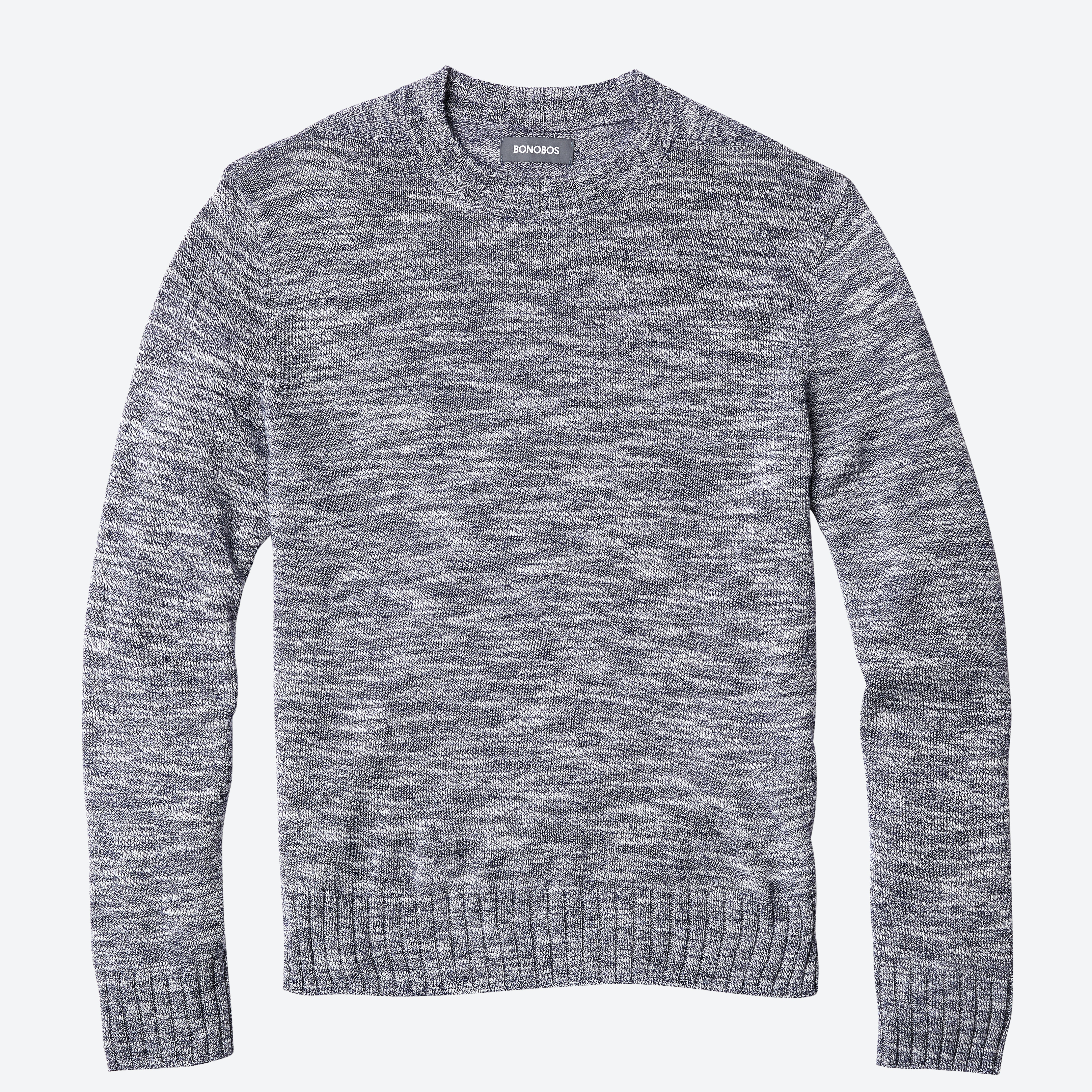 Lightweight Cotton Mock Neck Sweater