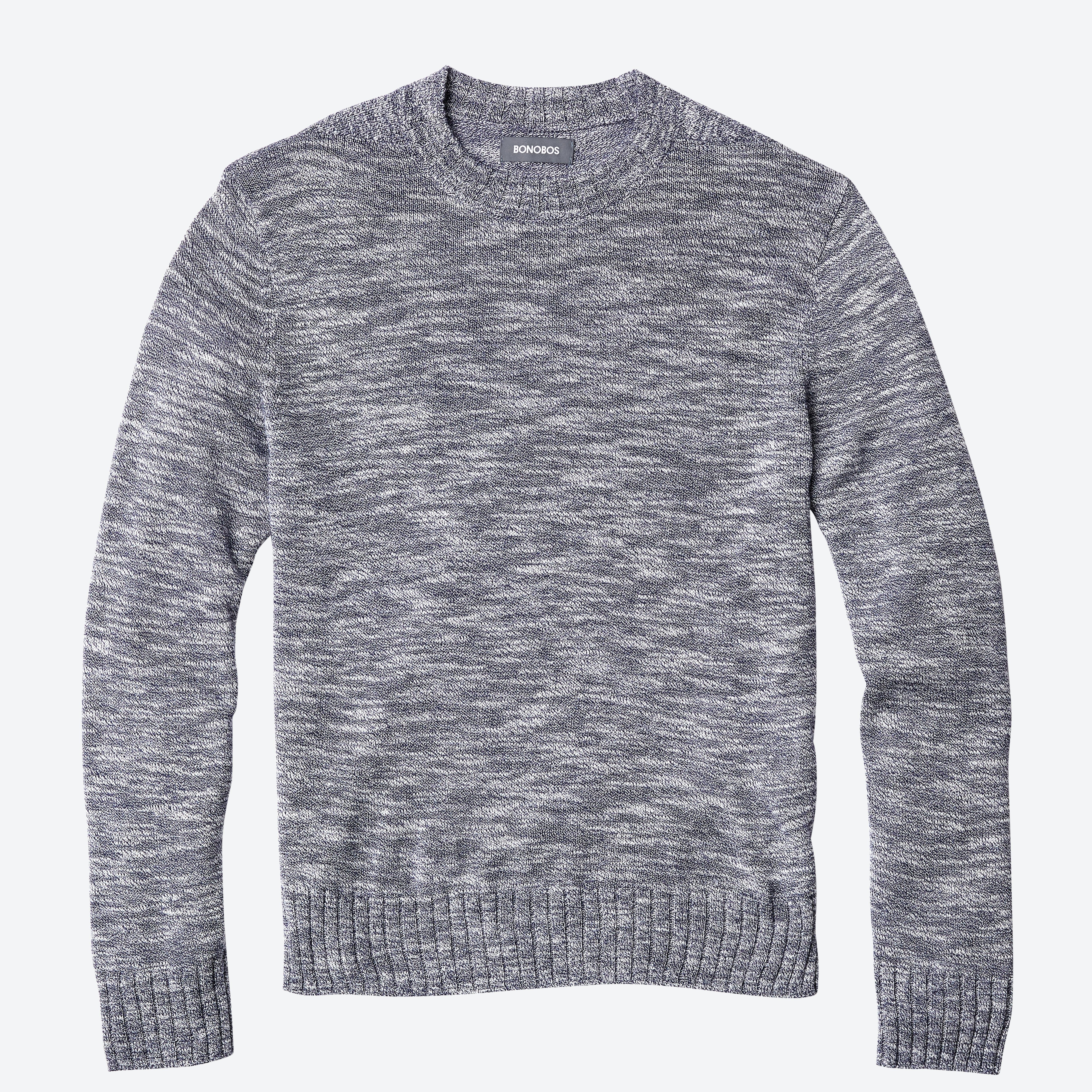 Lightweight Cotton Mock Neck Sweater