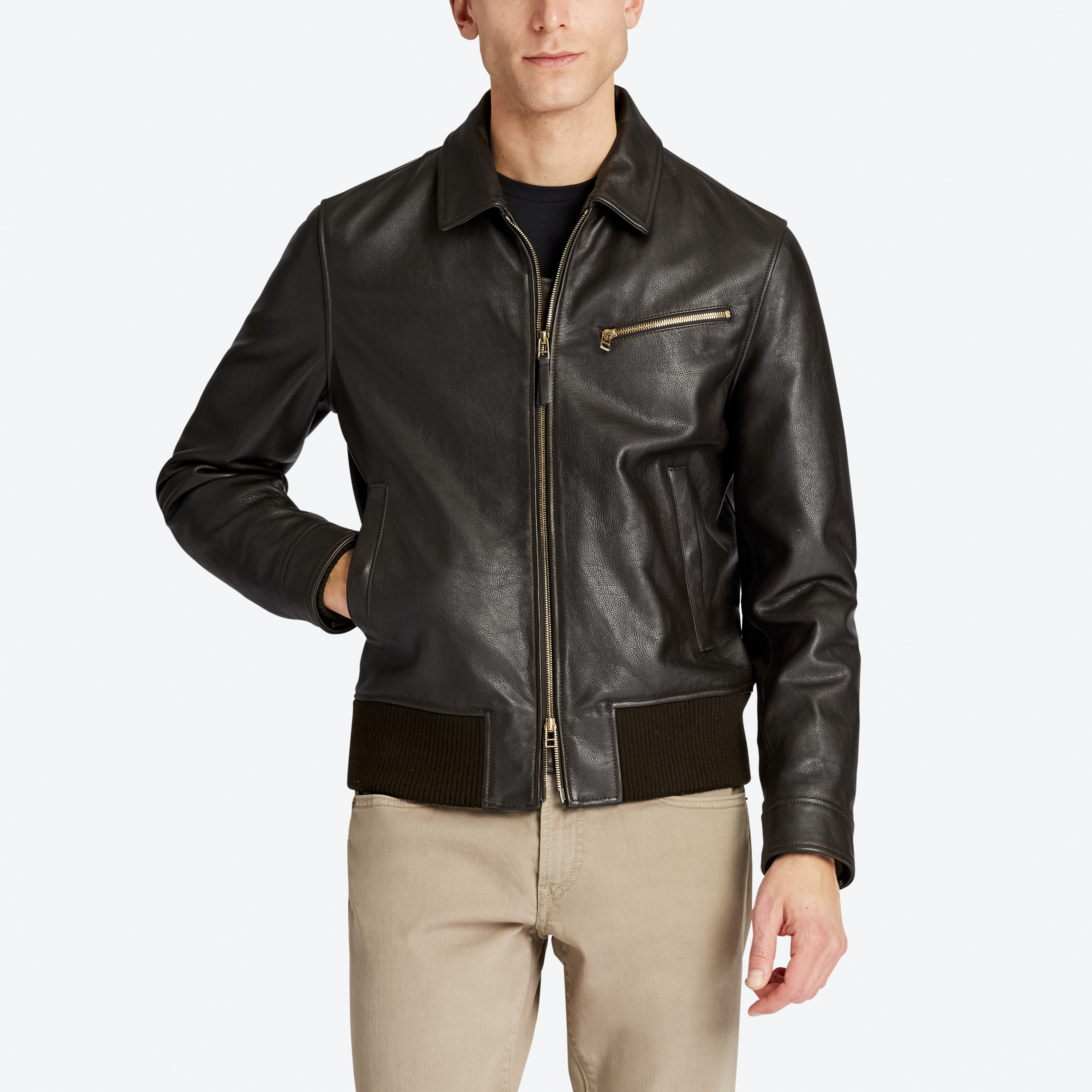 The Leather Bomber Jacket