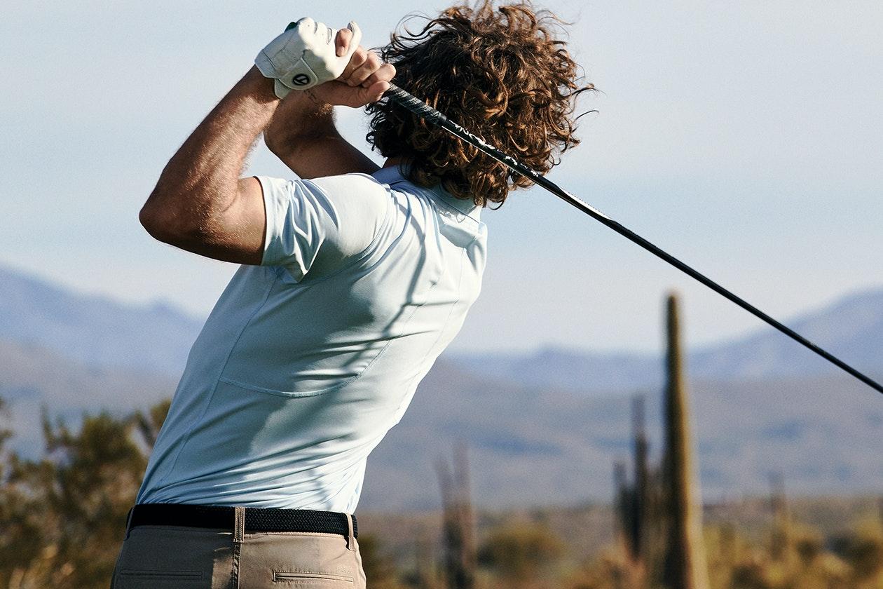 M-Flex Flatiron Golf Polos Hero Image