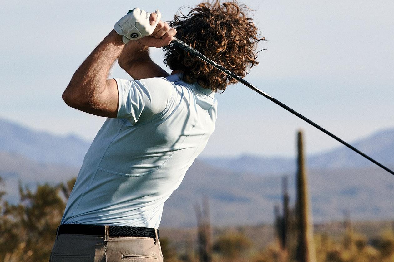 Editorial photo for M-Flex Flatiron Golf Polos category