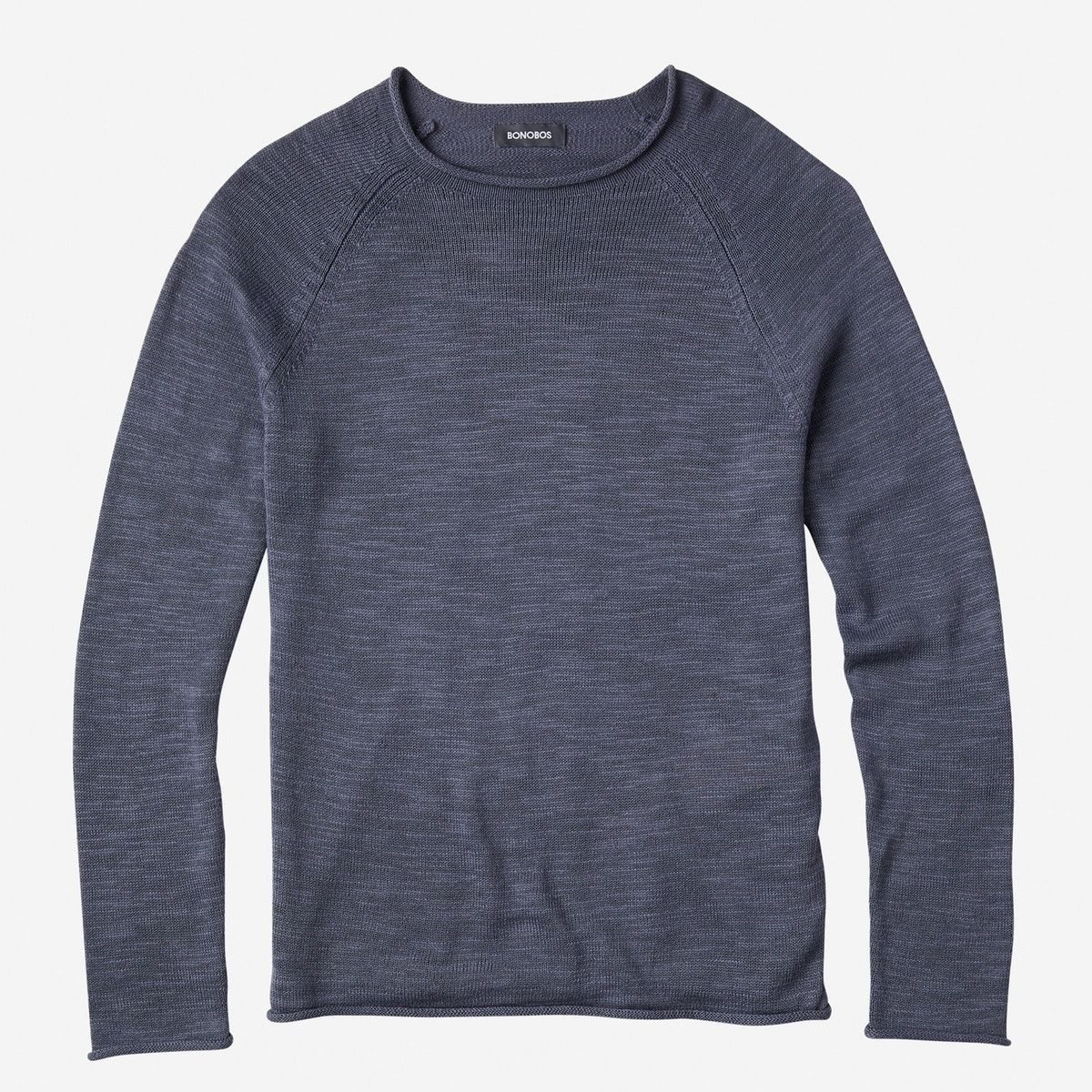 Lightweight Cotton Roll Neck Sweater